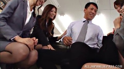 Asian office, Asian gangbang, Asian babe