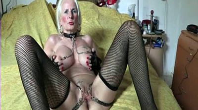 Nipple piercing, Chain, And, Mature pussy, Pierced pussy