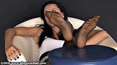 Nylon feet, Nylon tease, Nylon foot, Feet tease
