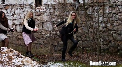 Innocent, Outdoors bondage, Bondage lesbian, Lesbian bdsm