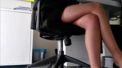 Upskirt, Secretary, Upskirt pantyhose, Under table, Under