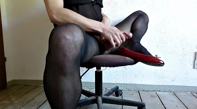 Big, Nylon handjob