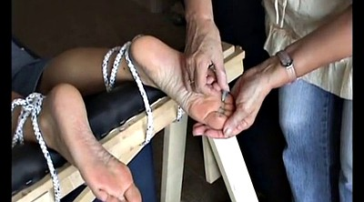 Mature foot, Needle, Needles, Bondage feet, Mature feet, Bondage foot