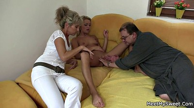 Family, Milf threesome, Family threesome