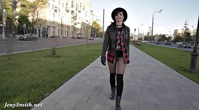 Jeny smith, Boots, Pantyhose public, Walk, Public flashing, Public pantyhose