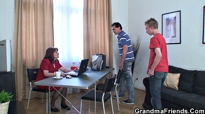 Mature young, Office threesome