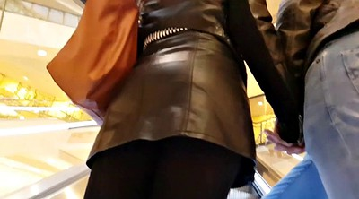 Hidden, Leather, Flashing, Up skirt