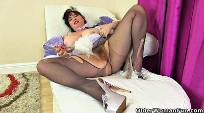 Mature pantyhose, British mature, Milf nylon, Mature nylon