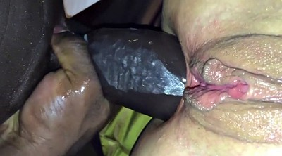 Gaping pussy, Monster cock
