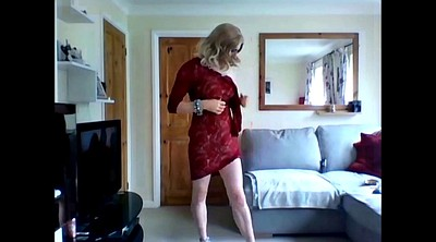Dress, Red dress, Lace, Dressing
