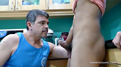 Dad, Asian gay, Kitchen, Young boy, Asian ass, Asian boy