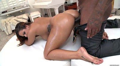 Oil, Interracial anal, Grey
