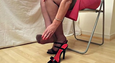 Heels stockings, Stockings heels, Rht, Mature stocking, Black stocking