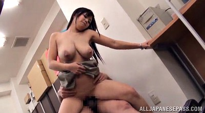 Asian office, Asian big tits