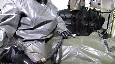 Suit, Gloves, Gloved, German latex, Three milf, Latex glove