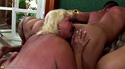 Old mom, Moms, Young mom, Mature gangbang