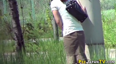 Japanese pee, Outdoor pee, Japanese outdoor, Watching, Japanese public