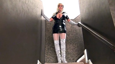 Gloves, Latex boots, Glove, Boot fetish, Big lady
