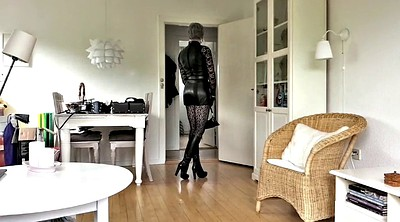 Cd, Leather, Stocking masturbation