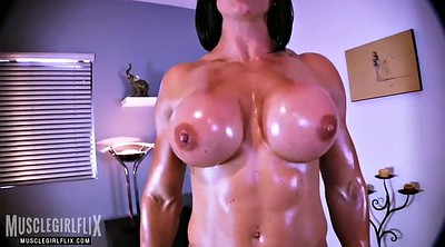 Gym, Oil, Big tit, Workout