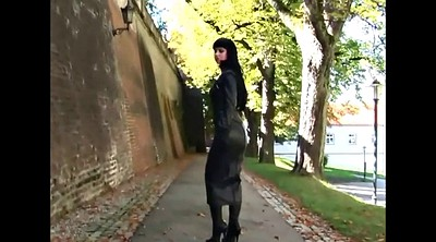 Leather, Skirt, Lady, Tight skirt, Leather skirt