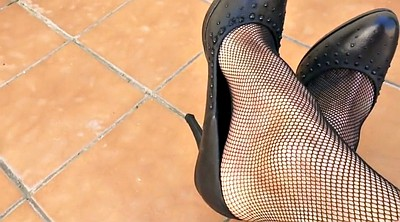 Nylon feet, Home, Shoeplay, Dangling