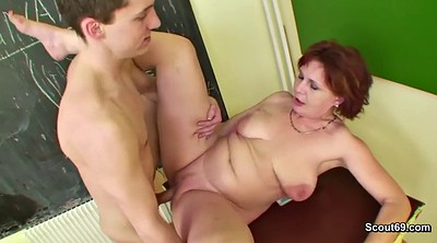 Young boy, Milf boy, Old teacher, Get pregnant