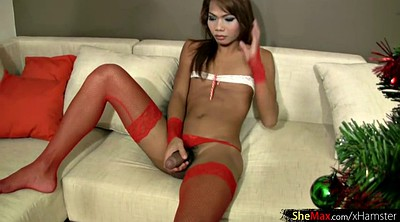 Red, Teen shemales, Stockings teen, Stock