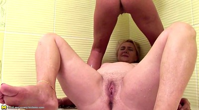 Big tits mom, Granny pissing