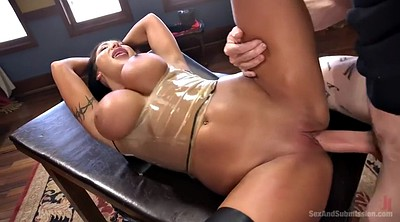 Fake tits, Mature bondage, Latex big tits