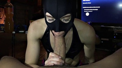 Amateur threesome, Mask, Interracial wife, Masked