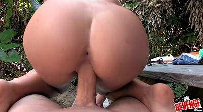 Gagging, Wood, Big ass doggy style, Shave, Outdoor blowjob