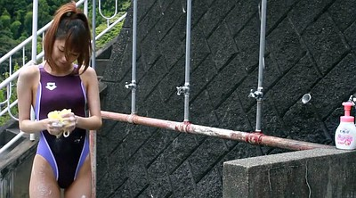 Japanese shower, Swimsuit, Japanese girl, Japanese fetish, Competition
