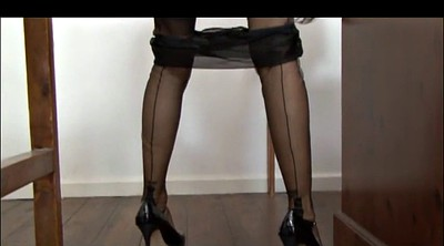 Stockings, Nylons, Garter, Dirty talk, Talking, Belt