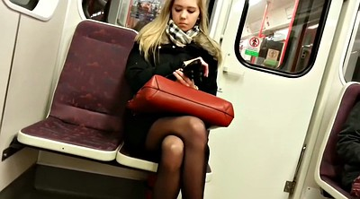 Blonde pantyhose, Train, Pantyhose blonde, Black girl