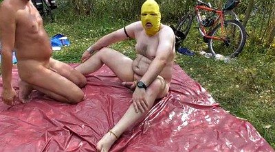 Piss, Outdoors bondage, Piss blowjob