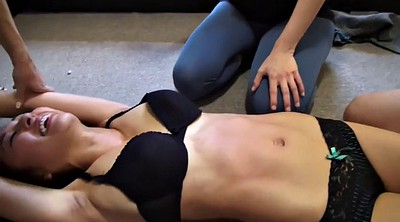 Tickling, Tickle, Asian lesbian, Roommate, Tickled, Cruel