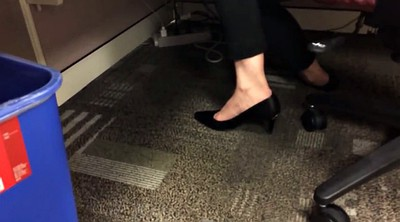 Foot, Candid, Shoeplay, Amateur french