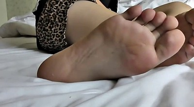 Feet, Asian foot, Happy, Young asian