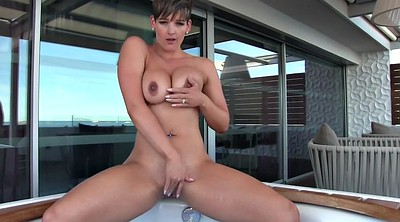 Solo babe, Jacuzzi, Caught spying