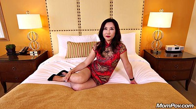 Mom pov, Hot mom, Chinese mom, Young casting, Asian mom, Ride pov