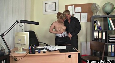 Old woman, Mature woman, Office mature, Office granny, Office young