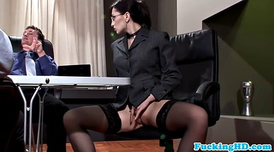 Secretary, Business, Sloppy blowjob