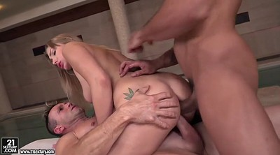 Double anal, Serbian, Teen threesome