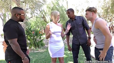 Cuckold creampie, Threesome anal, Interracial missionary