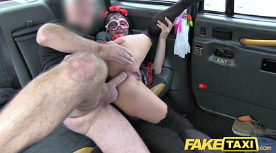 Ass, Taxi anal, Fake tits