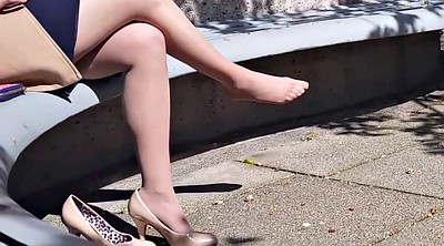 Nylon feet, Nylon foot, Pantyhose feet