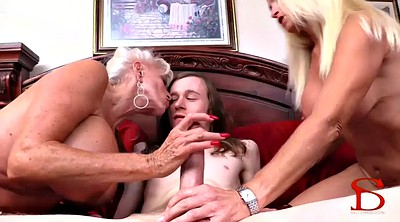 Family, Granny anal, Family threesome, Family anal, Blonde mature