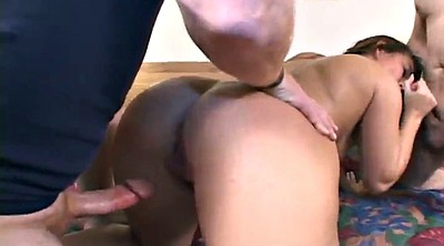 Double penetration, Double pussy, Cum in pussy, Pussy get creampie