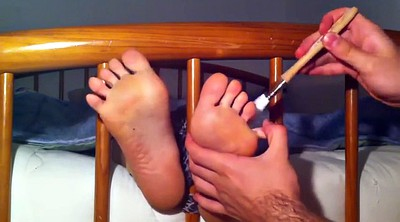 Tickle, Tickling, Nylon feet, Nylon foot, Tickle feet, Nylons